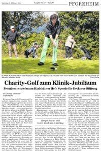 Charitiy Golfturnier ARCUS Kliniken
