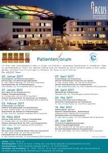 Programm Patientenforum 1. Halbjahr 2017