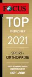 FOCUS TOP MEDIZINER 2021 - Sportorthopädie