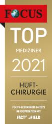 FOCUS TOP MEDIZINER 2021 - Hüftchirurgie