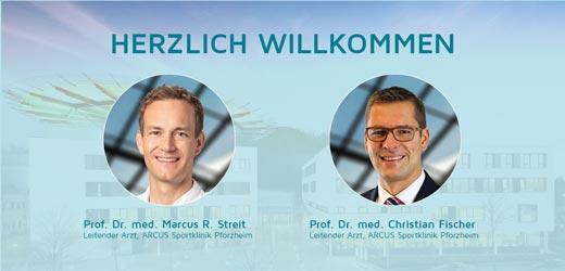 Prof. Dr. med. Christian Fischer und Prof. Dr. med. Marcus R. Streit